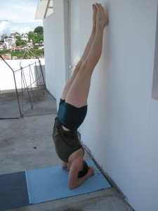Continuing to strengthen my headstand.